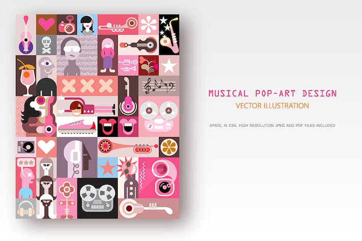Thumbnail for Diseño musical Pop-Art.