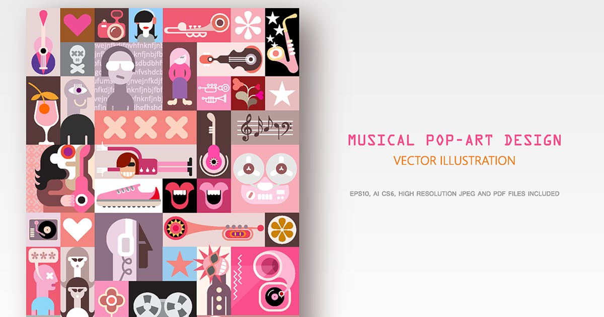 Download Musical Pop-Art Design by danjazzia