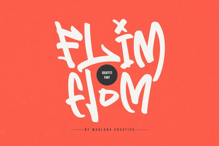 Thumbnail for Flim Flom - Graffiti Font