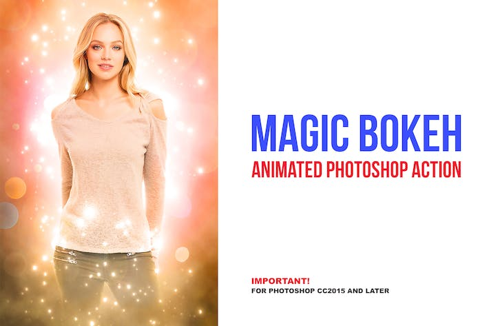 Thumbnail for Magic Bokeh - Animated Photoshop Action