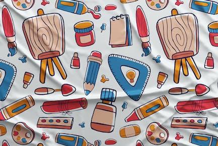 Art Studio Motif Sans Couture #01