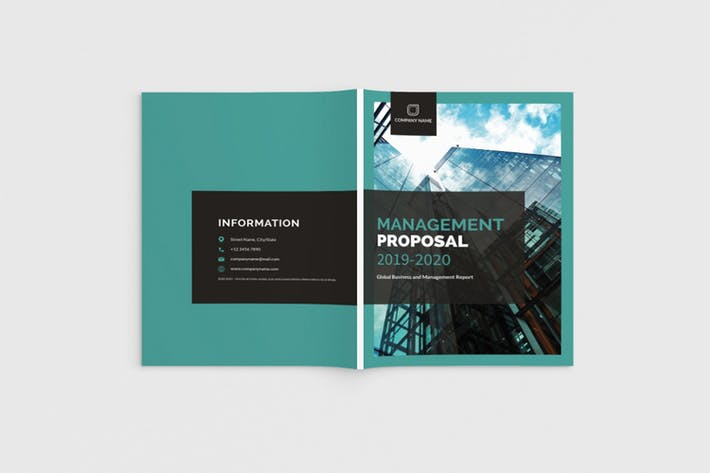 Thumbnail for Mager - A4 Management Proposal Template