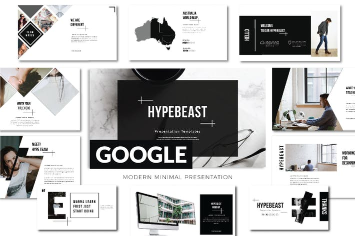 Thumbnail for Hypebeast Business Google Slide - LS