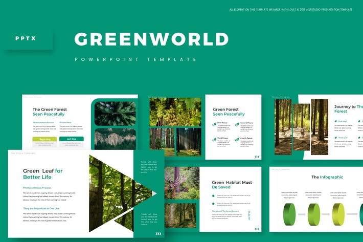 Thumbnail for Green World - Powerpoint Template