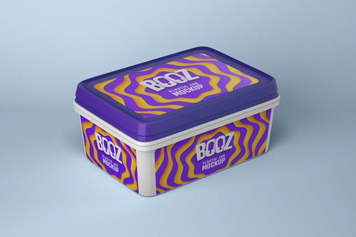 Thumbnail for Realistic Ice Cream Box Mockup