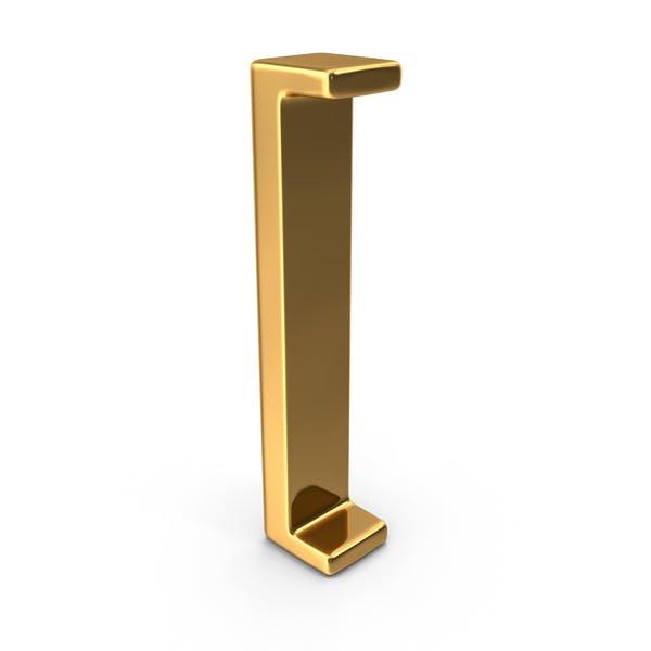 Gold Open Bracket Symbol
