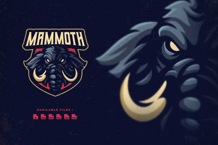 Thumbnail for Логотип персонажа мамонта