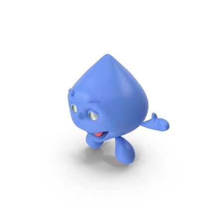 Cartoon Character Water Drop Smiling