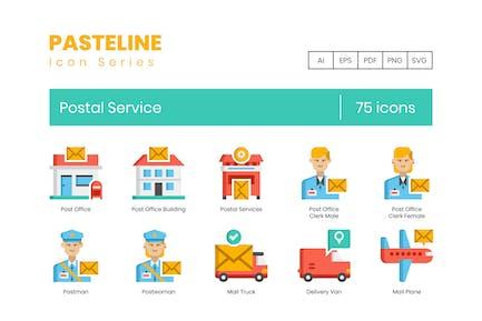75 PostdienstIcons - Pasteline-Serie