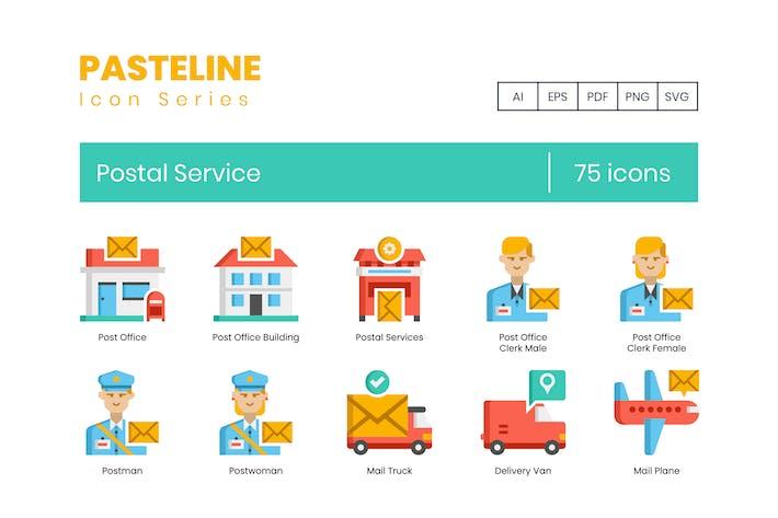 75 Postal Service Icons - Pasteline Series