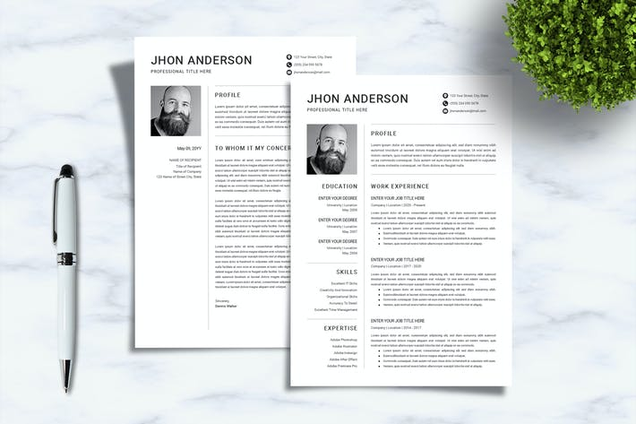Thumbnail for Creative CV Resume Template| Sanstemp