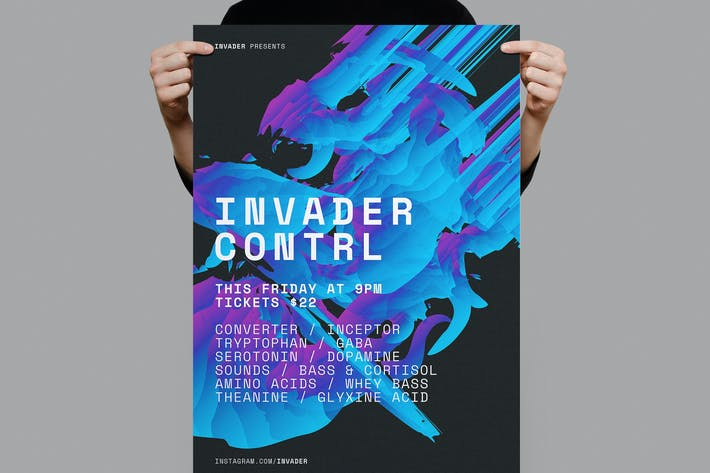 Thumbnail for Póster de control de invasores