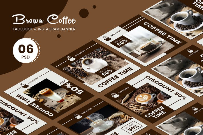 Thumbnail for Brown Coffee Banner Vorlagen