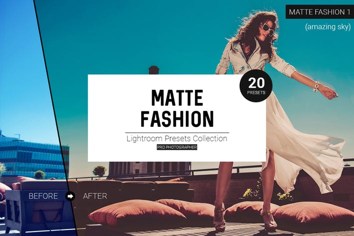 Thumbnail for Matte Fashion Lightroom Presets