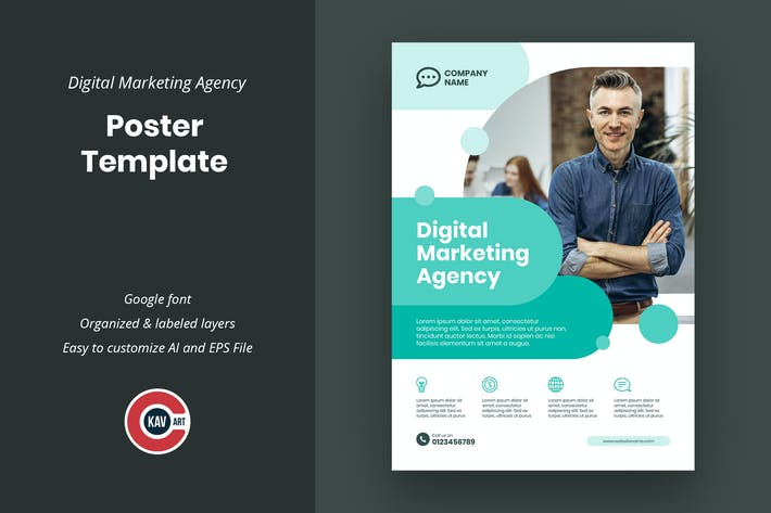 Digital Marketing Agency Poster Template