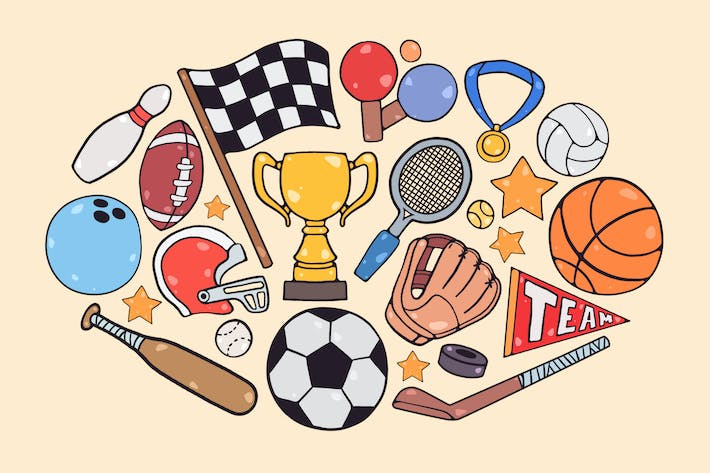 Thumbnail for Sports Items Clipart