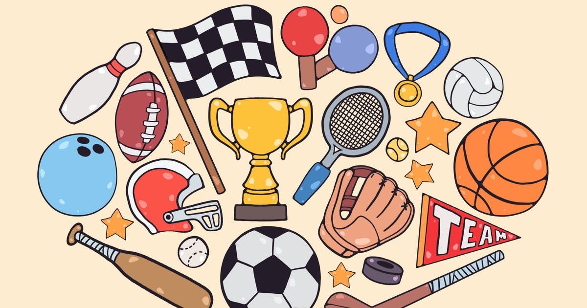 Download Sports Items Clipart by Jumsoft