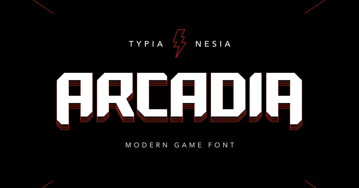 Download Arcadia - Scifi Game Font by yipianesia