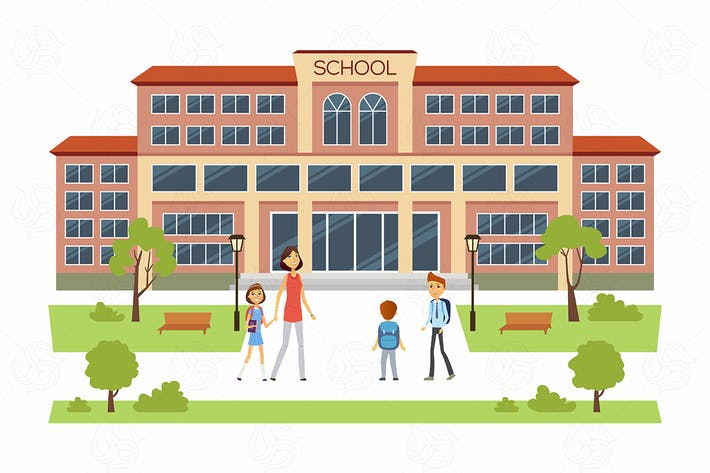 Thumbnail for Back to school - cartoon character illustration