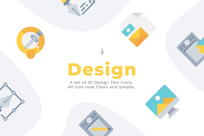 Thumbnail for 20 Design Element icons - Flat