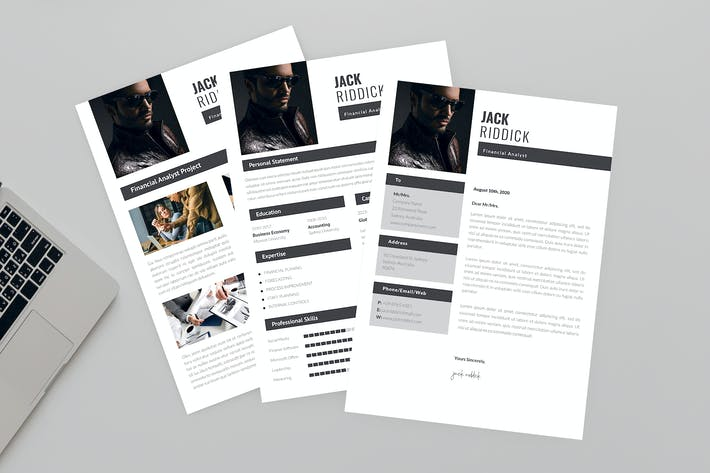 Cover Image For Financial Analyst Resume Designer