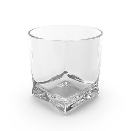 Vaso de whisky vacío