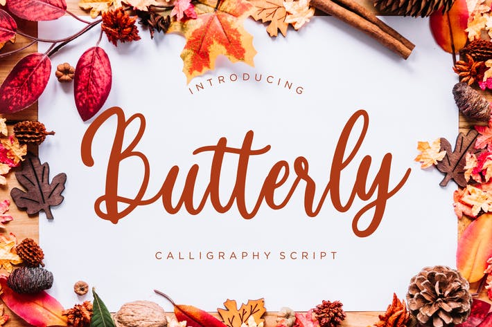 Thumbnail for Butterly Calligraphy Script
