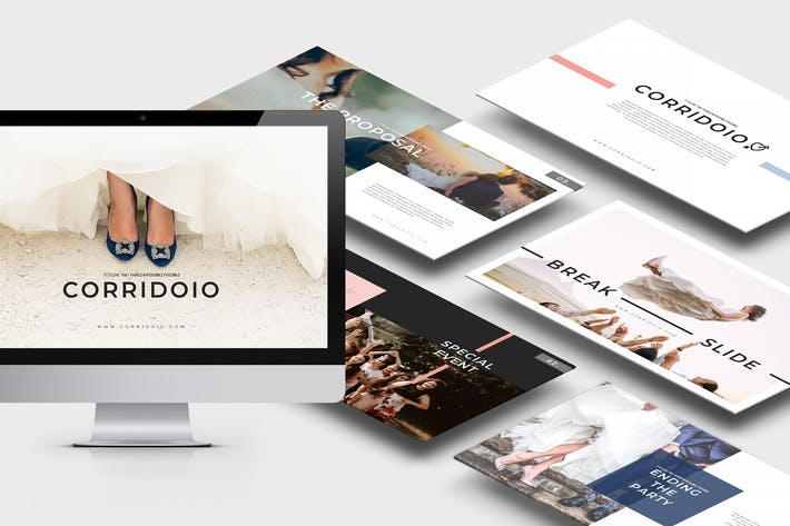 Thumbnail for Corridoio : Wedding Organizer Keynote Template