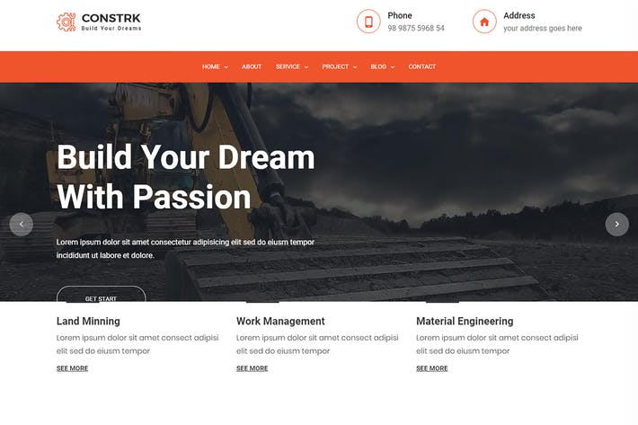 Thumbnail for Constrk – Construction Bootstrap 4 Template