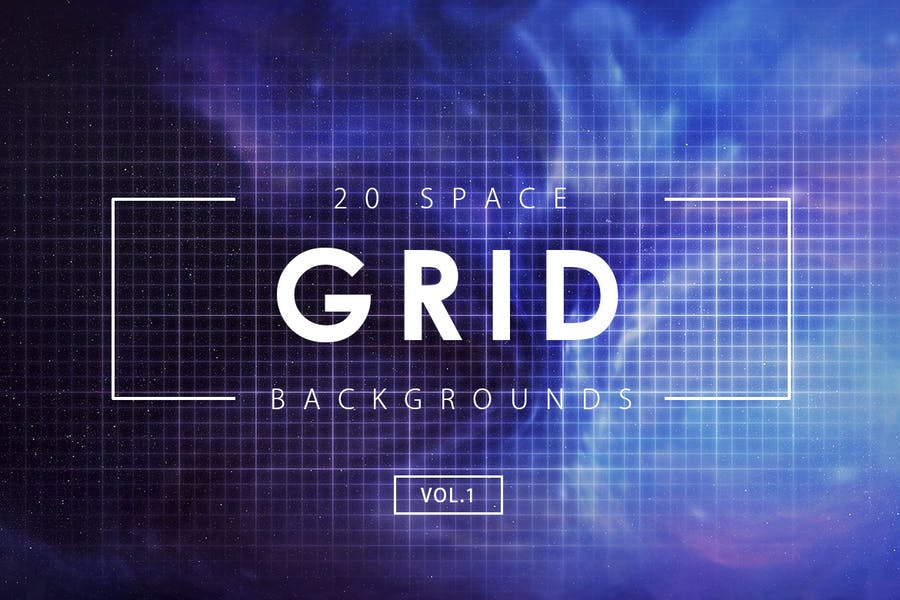 20 Space Grid Backgrounds Vol. 1