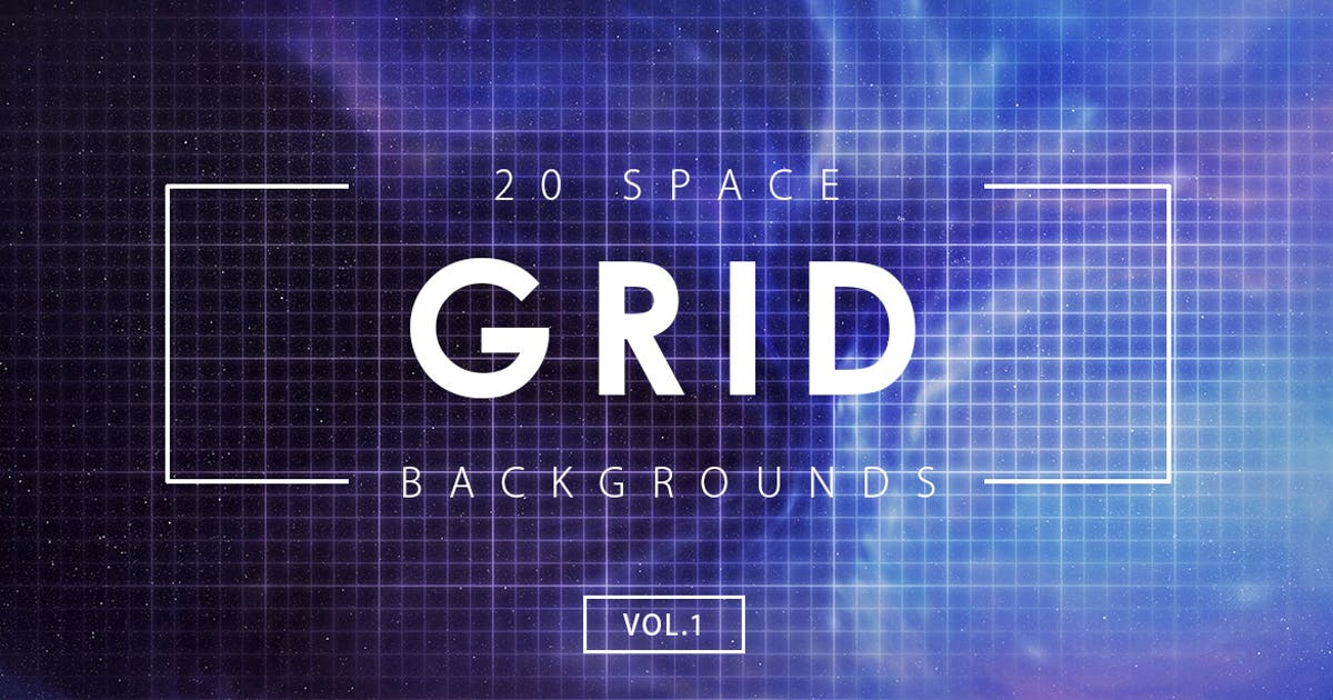 Download 20 Space Grid Backgrounds Vol. 1 by M-e-f