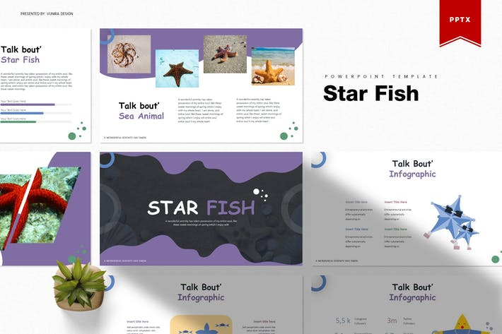 Thumbnail for Star Fish | Powerpoint Template