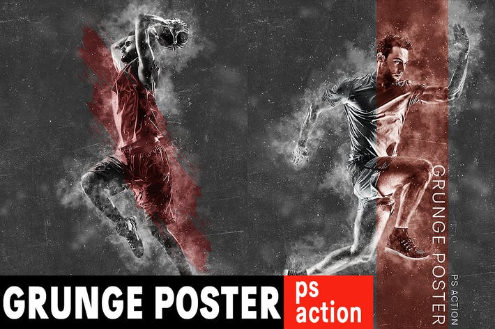 Thumbnail for Grunge Poster Photoshop Action