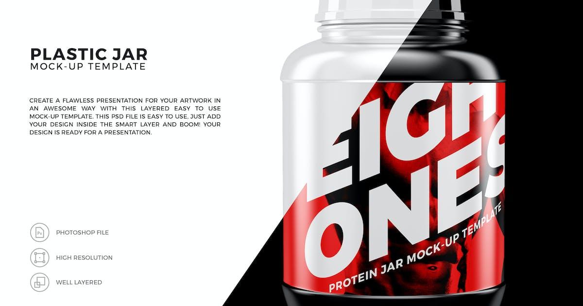 Download Plastic Jar Mock-Up Template by EightonesixStudios