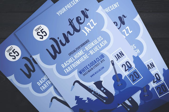 Cover Image For Jazz On Winter Flyer