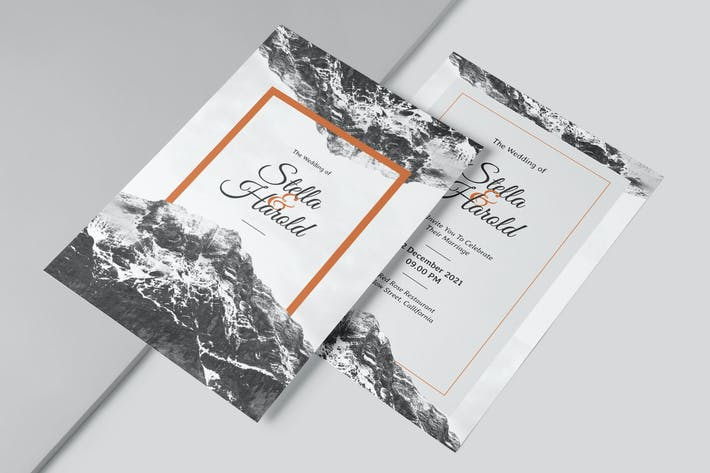 The Mountain Wedding Invitation
