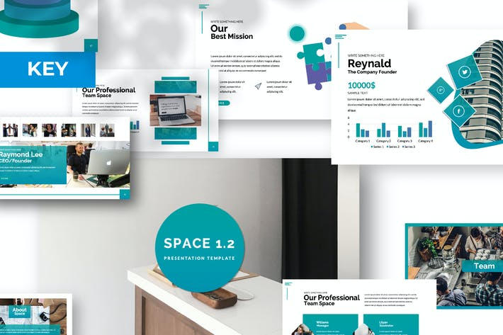 Thumbnail for Plantilla de Keynote de Space 1.2