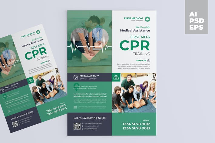 Thumbnail for CPR Training Flyer Design