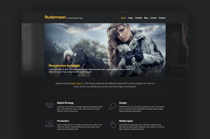 Thumbnail for Rudermann - Responsive Retina Ready HTML Template