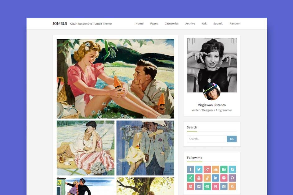 Download Jomblr -  Minimalist Tumblr Theme by StringLabs