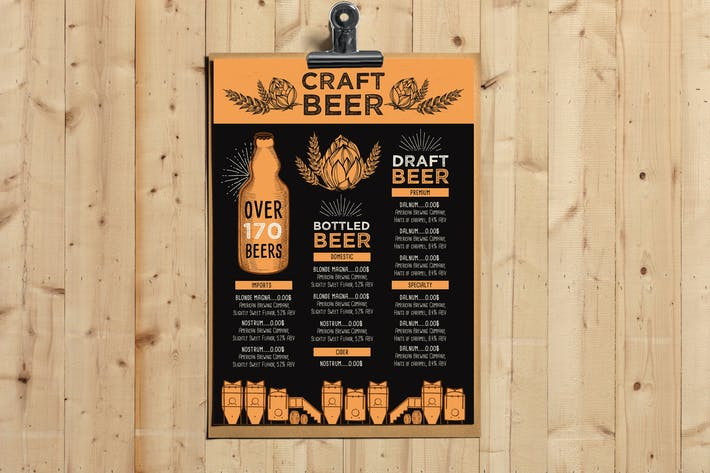 Thumbnail for Beer Menu Template