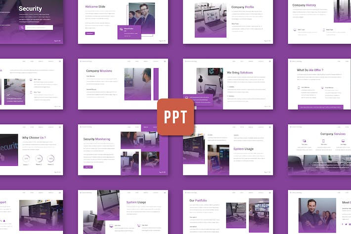 Thumbnail for Security - Powerpoint Template