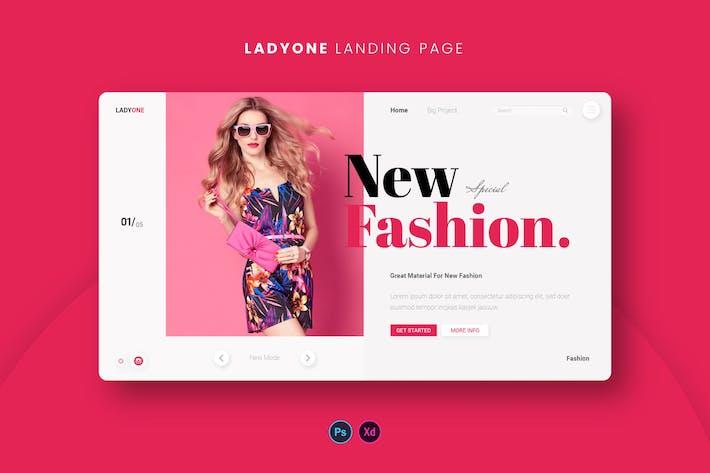 Thumbnail for Ladyone Landing Page