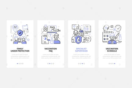 Vaccination - Line Design Style Web Banners