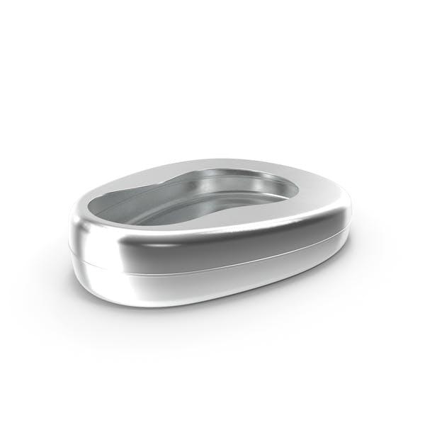 Bett-Pfanne aus Metall