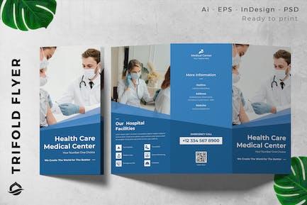 Medical Healt Care Trifold Brochure Flyer