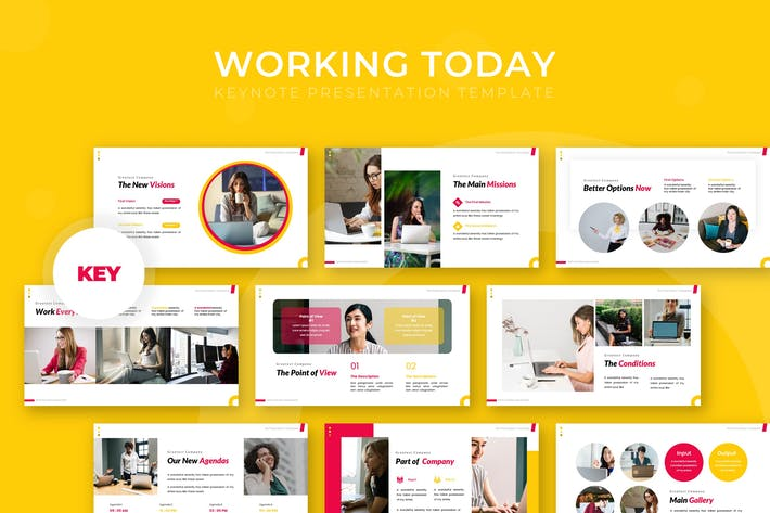 Thumbnail for Working Today - Keynote Template