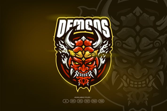 Thumbnail for Japanese Samurai Demon Mask