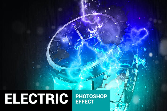 Cover Image For Electrum - Lightning Photoshop Action