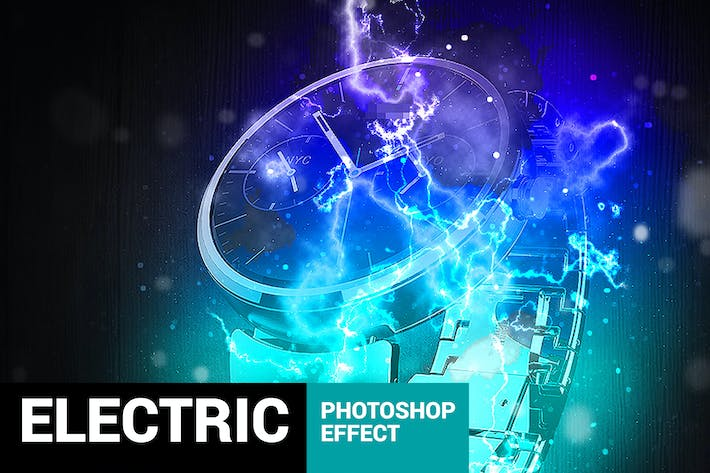 Thumbnail for Electrum - Lightning Photoshop Action